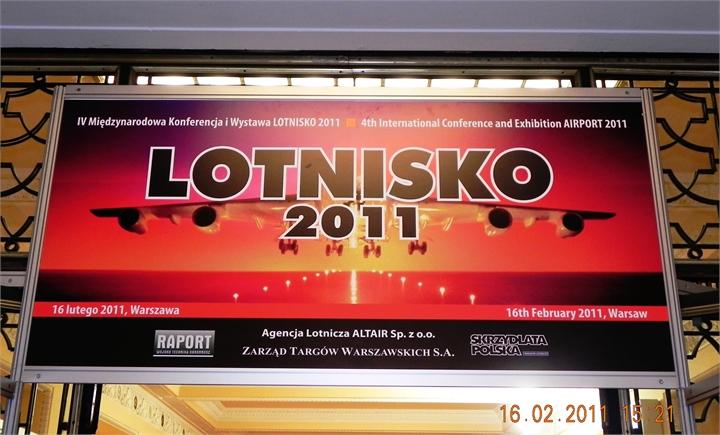 Plakat Międzynarodowej Konferencji i Wystawy Lotnisko 2011