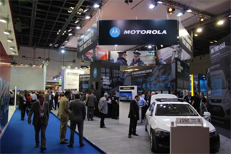 Stoisko Motorola Solutions podczas Światowego Kongresu TETRA 2012 w Dubaju