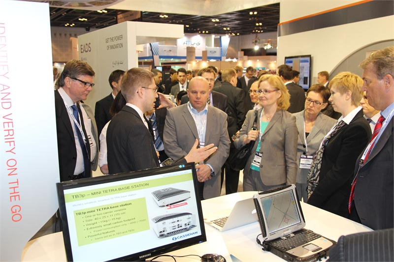 Visitors at Cassidian stand during TWC 2012