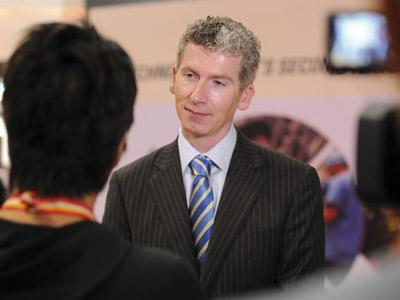 Tom Quirke udziela wywiadu podczas TWC 2012