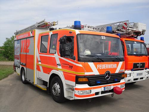 Wozy niemieckiej straży pożarnej