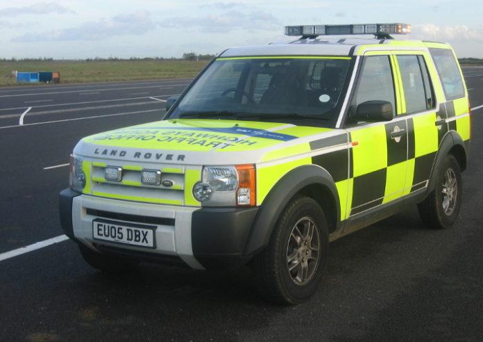 Pojazd patrolowy Agencji Autostrad