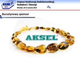 AKSEL bursztynowym sponsorem KKRRiT 2013
