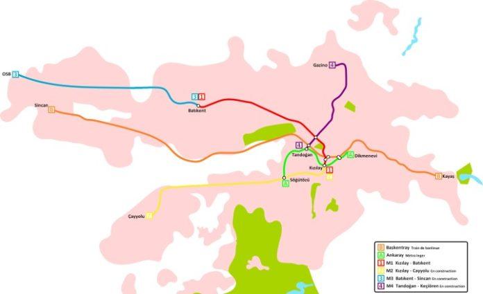Plan metra w Ankarze