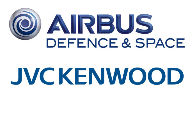 Logo Airbus Defence and Space i JVCKENWOOD