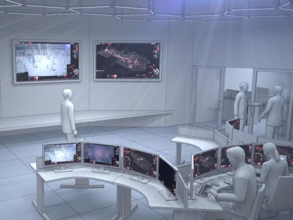 Wizualizacja głównego centrum dowodzenia EXPO 2015