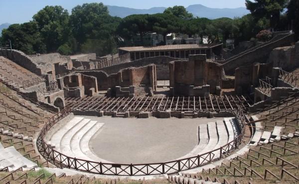 Kryty teatr (odeon) w Pompejach