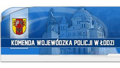 Banner KWP w Łodzi