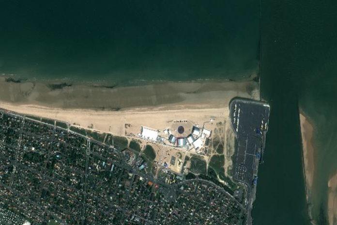 Normandzkie wybrzeże widziane z satelity