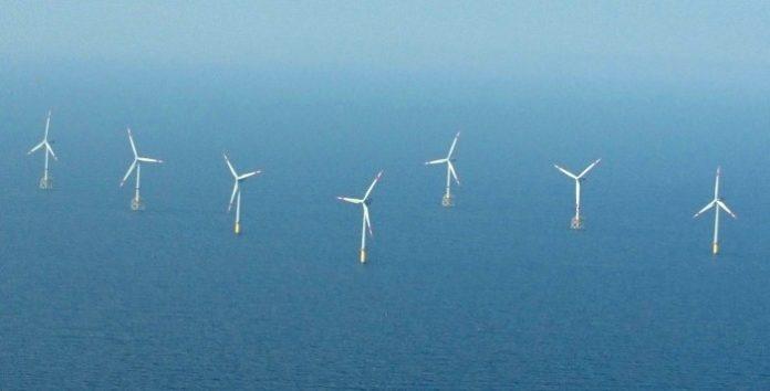 Farma wiatrowa na Morzu Północnym