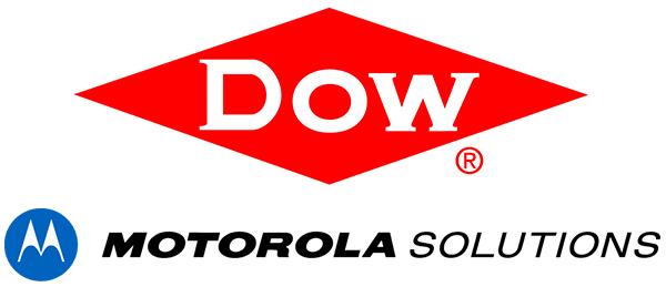 Logotypy Dow Chemical i Motorola Solutions