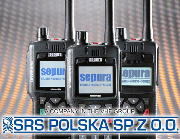 Logo SRS Polska i radiotelefony Sepura STP9000