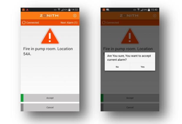 Wygląd aplikacji Zonith
