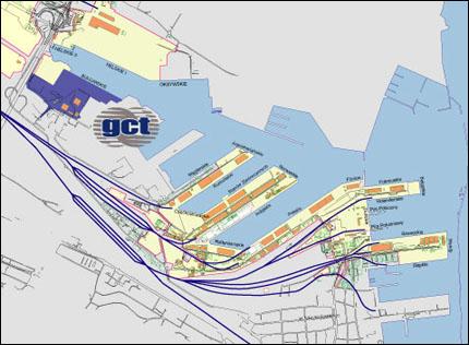 Mapka terminala GCT