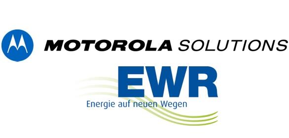 Logotypy Motorola Solutions i EWR Netz