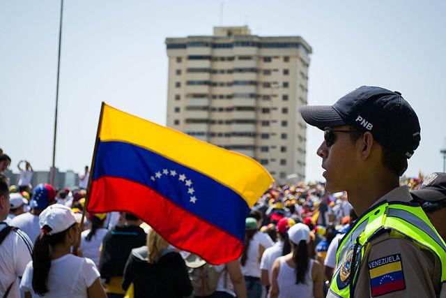 Wenezuelski policjant