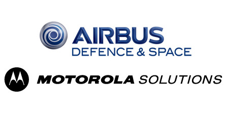 Logotypy Airbus Defence and Space i Motorola Solutions